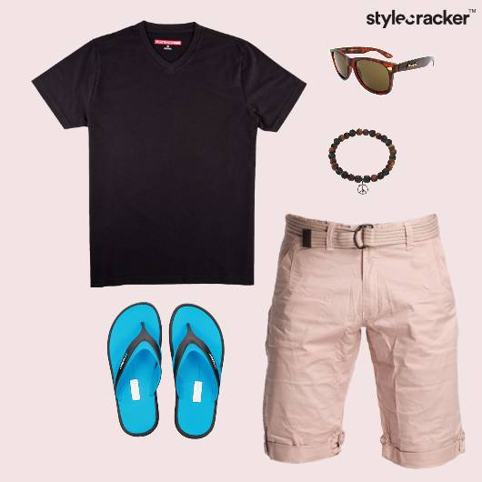 Basic TShirt FlipFlop Casual Beach - StyleCracker