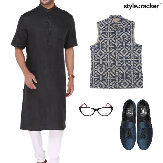 Kurta Jacket Slipons Glasses  - StyleCracker