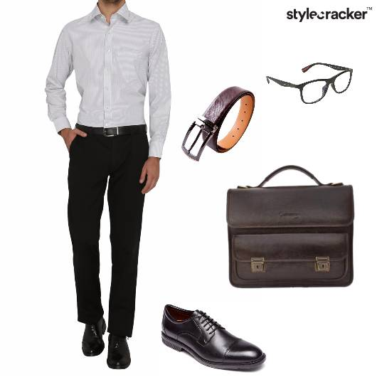 Shirt Trousers Messengerbag Oxfords Work - StyleCracker