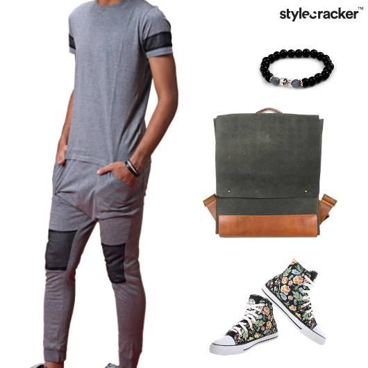JoggerPants Backpack Canvas Tshirt Casual Sporty - StyleCracker