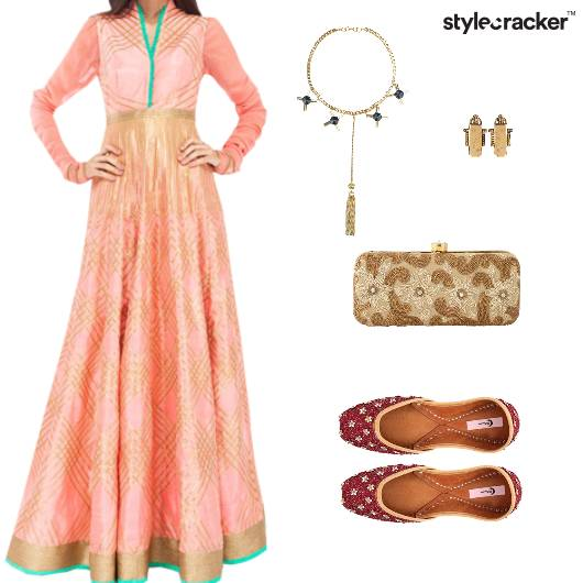 Clutch Neckpiece Flats Ethnic Wedding - StyleCracker