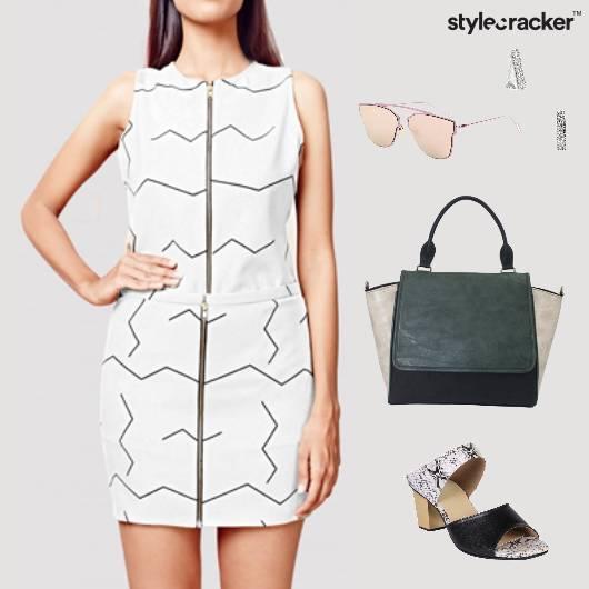 Dress Mules Sunglasses Messenger Casual Brunch - StyleCracker