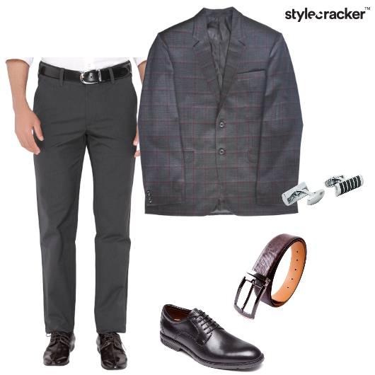 Blazer Trousers Oxfords Shirt SuitedUp - StyleCracker