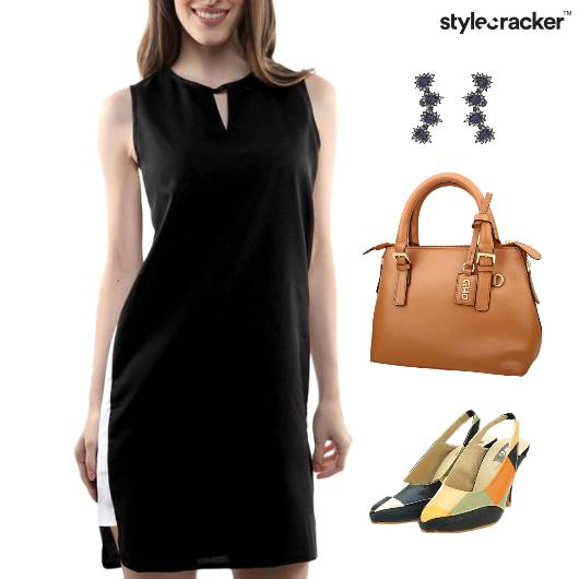 ColorBlock Dress Footwear Lunch Jewellery - StyleCracker