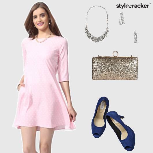 Dress Pumps Clutch Neckpiece Earrings Glam - StyleCracker