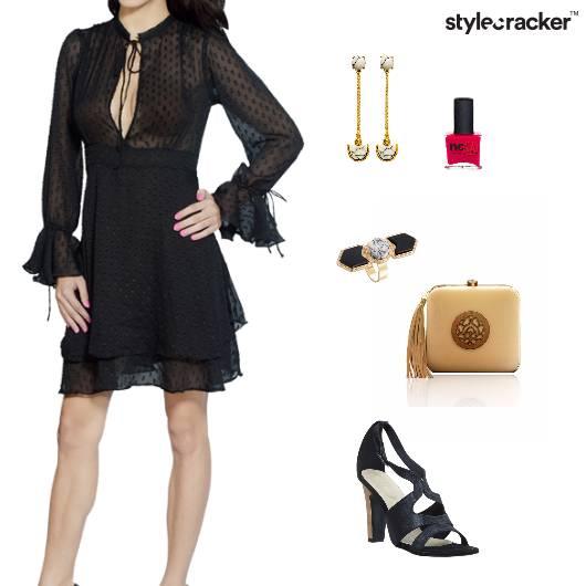 Clutch Dress Ring Nailpaint Earrings Party - StyleCracker