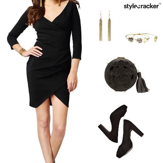 Littleblackdress Clutch Pumps Earrings Chic Glam - StyleCracker