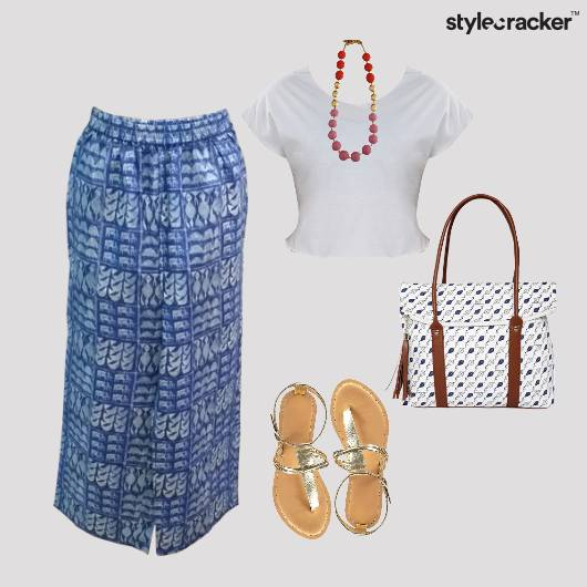 CropTop Flats Printed Bag Casual - StyleCracker