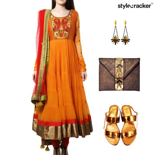 Indian Festive Anarkali Reception Ethnic - StyleCracker