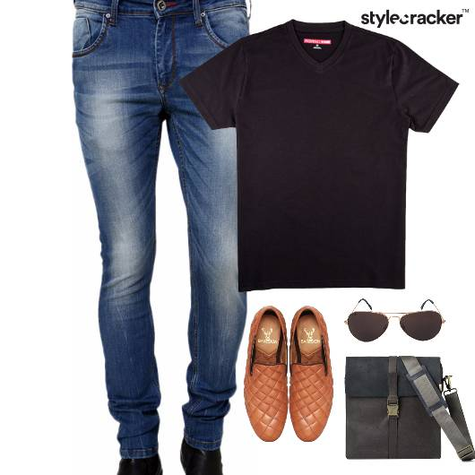 Basic TShirt SlipOn Aviator Travel - StyleCracker
