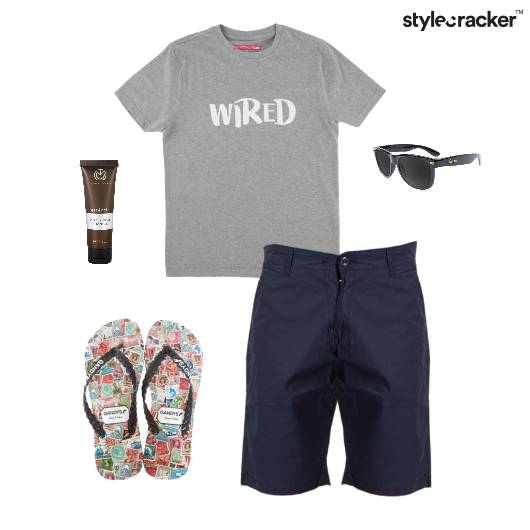 Casual TShirt FlipFlop Vacation Beach - StyleCracker