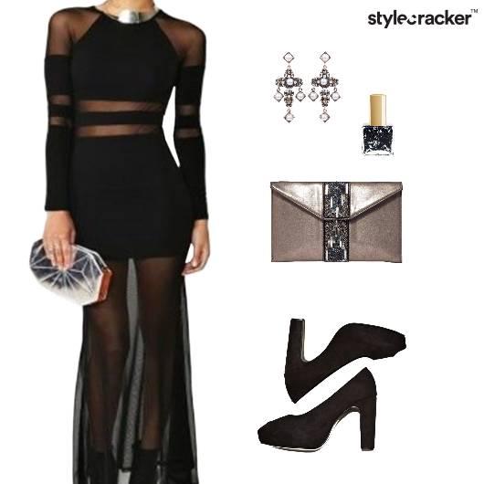Dress Pumps Clutch Earrings Nailpaint Goth Chic - StyleCracker