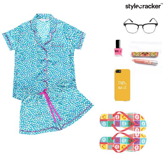 NightWear Glasses Slippers Phonecover Nailpaint Lounge  - StyleCracker
