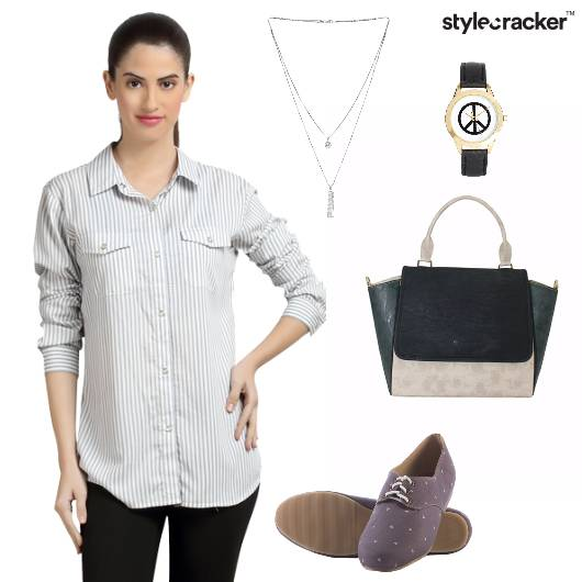 Shirt Jeggings Oxfords Satchel Work - StyleCracker