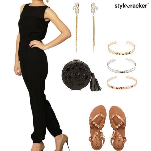 Jumpsuit Flats Clutch Shouldersdusters  Party - StyleCracker