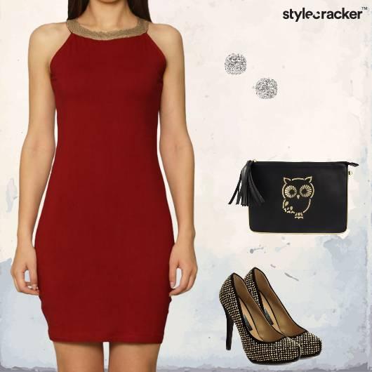 Dress Bodycon Pumps Clutch Studs Party Dinner - StyleCracker