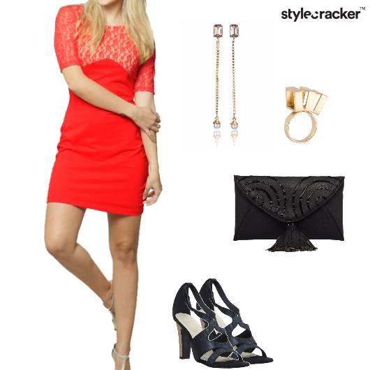 Bodycon Dress Heels Clutch Cocktail  - StyleCracker