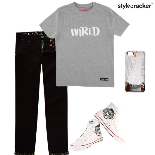 Tshirt Chinos Hightops PhoneCover Casual Basics - StyleCracker