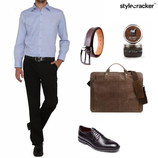 Shirt Trousers MessengerBag Oxfords Work - StyleCracker