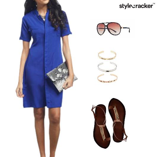 Casual Shirt Dress Flats Accessories - StyleCracker