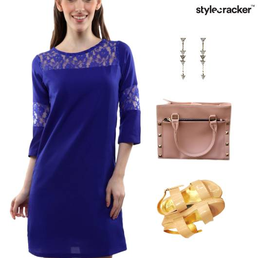 Lace Dress Flatform Footwear Bag - StyleCracker