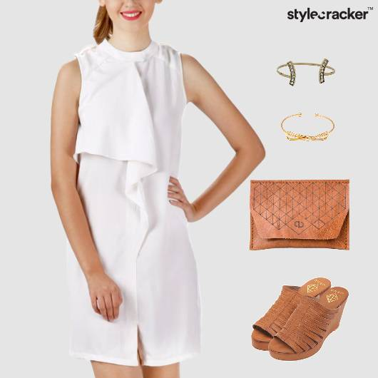 Shift Dress Clutch Wedge Footwear - StyleCracker