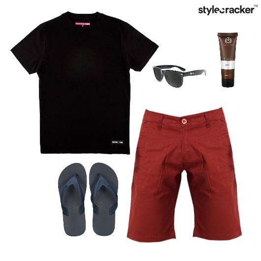 Casual TShirt Shorts FlipFlops Summer - StyleCracker