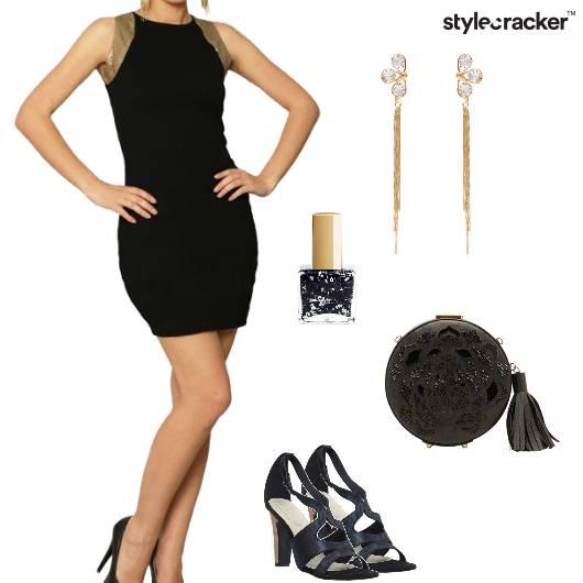Dress Bodycon Heels Clutch Shoulderdusters Party - StyleCracker