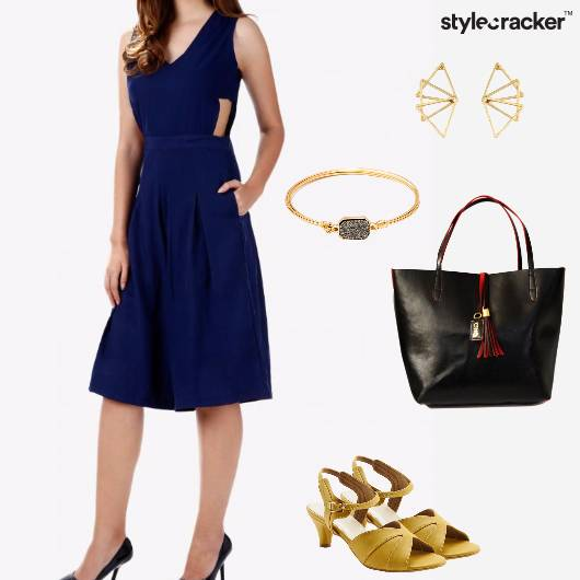 Jumpsuit Tote KittenHeels Bracelet Work - StyleCracker