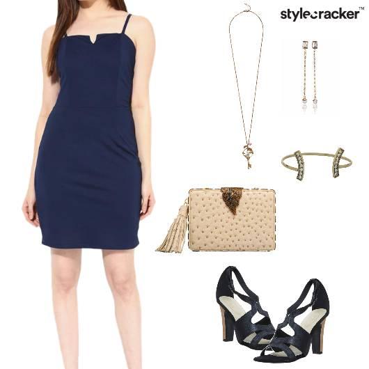 Dress Clutch Neckpiece Earrings Party - StyleCracker