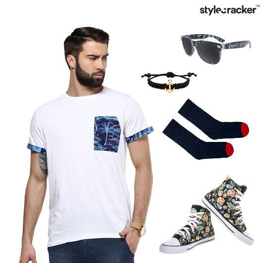 Tshirt Shorts Canvas Socks Sunglasses - StyleCracker