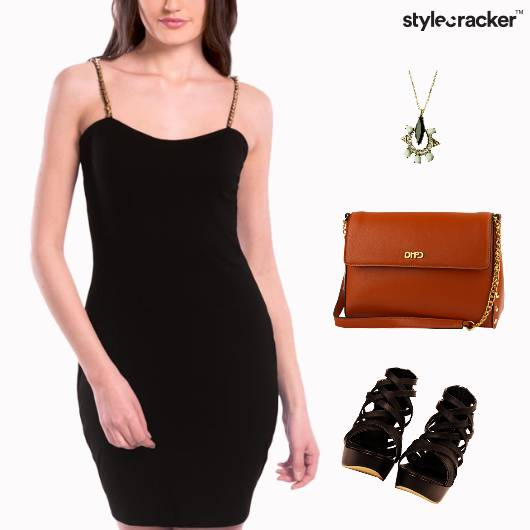 Slip Dress SlingBag Dinner Party - StyleCracker