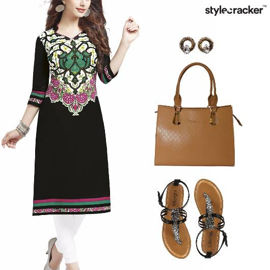 Indian Festive Ethic Work Flats - StyleCracker