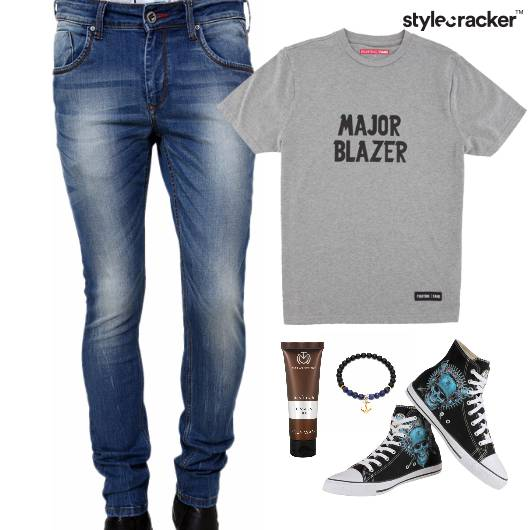 Casual TShirt HiTop Denim Lunch - StyleCracker