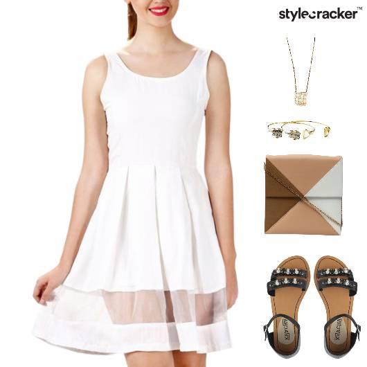 Pleated Dress Flats Accessories Dinner - StyleCracker