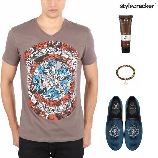 Casual TShirt SlipOn Footwear Lunch  - StyleCracker