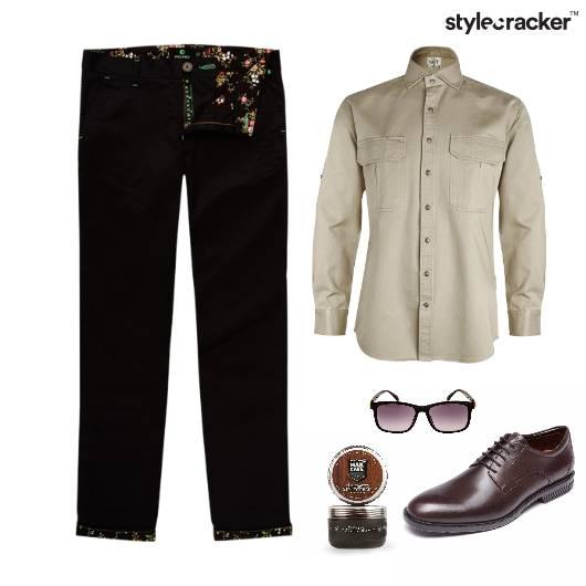 Casual Shirt Chinos HairGel Lunch - StyleCracker