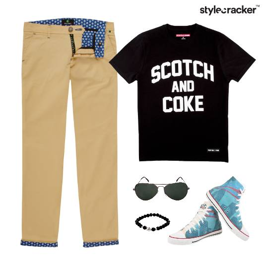 Casual TShirt HiTop Chinos Lunch - StyleCracker