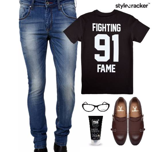 Casual TShirt SlipOns Denim Lunch - StyleCracker