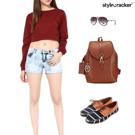 CropTop BackPack Lunch Casuals College - StyleCracker