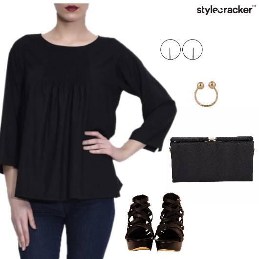Pleated Top Night Party  - StyleCracker
