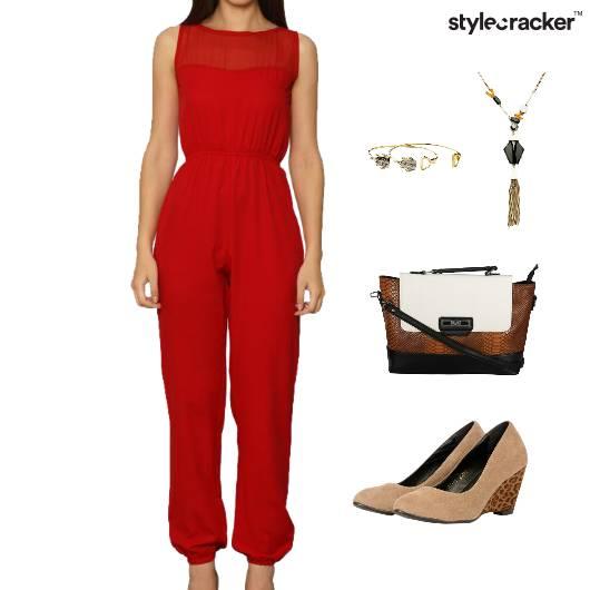 JumpSuit CrossBody Bag Accessories Dinner - StyleCracker