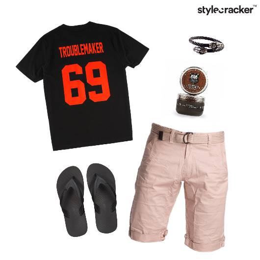 Casual  TShirt FlipFlop Footwear Vacation - StyleCracker