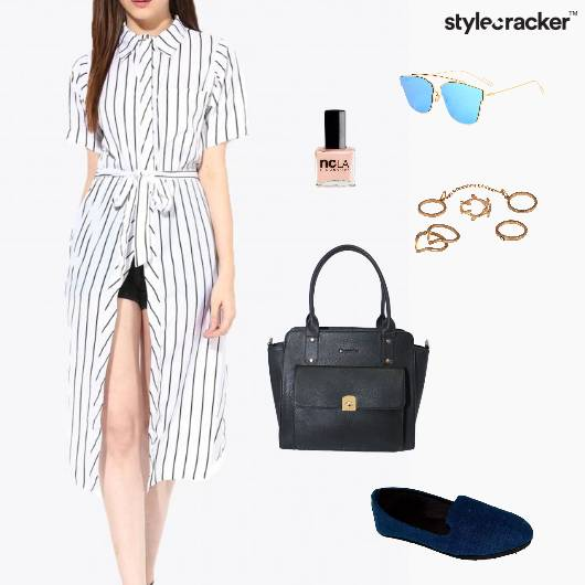 ShirtDress Shorts Bag Flats Rings Picnic  - StyleCracker