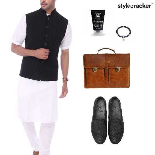 ModiJacket Kurta Handbag Slipons Office Formals - StyleCracker