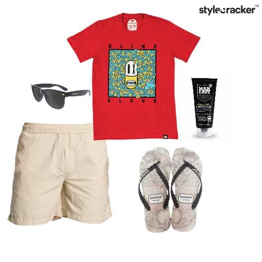 Tshirt Shorts Slippers ShowerGel Summer Vacation - StyleCracker