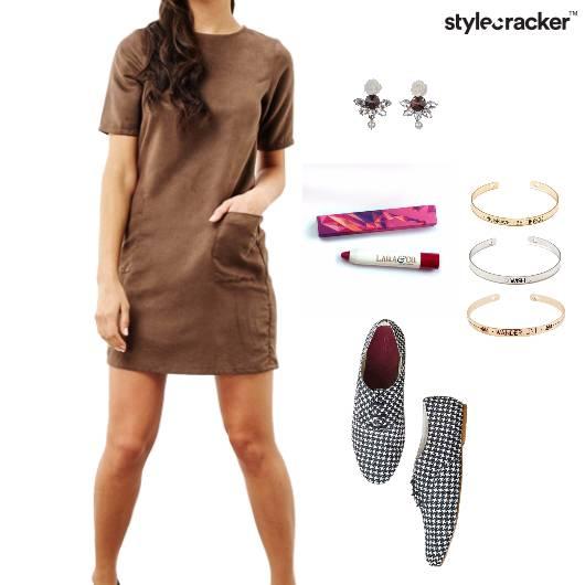 Dress Earrings Lipbalm Bracelet Casual  - StyleCracker