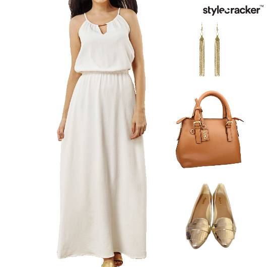Maxi Dress Accessories Brunch Weekend - StyleCracker