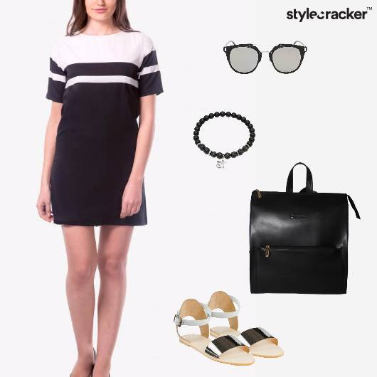 MonoCrhome Dress Backpack Casual Day - StyleCracker