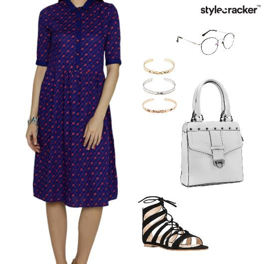 Dress Glasses Bracelet Handbag StrappySandals Casual - StyleCracker